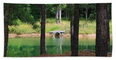 Pond Side Dock Beach Towel