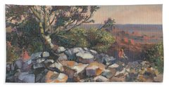 Pondering By The Canyon Beach Towel