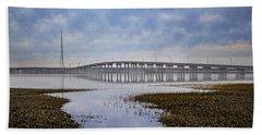 Ponquogue Bridge Hampton Bays Ny Beach Sheet