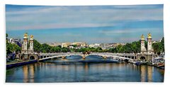 Pont Alexandre IIi Beach Towel by Anthony Dezenzio