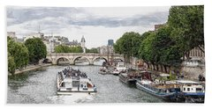 Pont Neuf Panorama Beach Towel