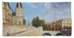 Pont Saint Michel, Paris Beach Towel