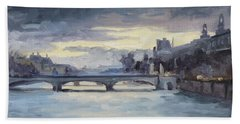 Pont Du Carrousel, Paris Beach Towel