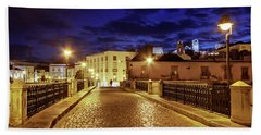 Beach Towel featuring the photograph Ponte Romana At Blue Hour / Tavira, Portugal by Barry O Carroll