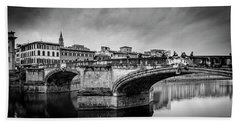Beach Sheet featuring the photograph Ponte Santa Trinita by Sonny Marcyan