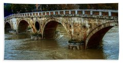 Ponte Sisto Bridge Rome Beach Towel