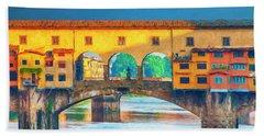 Ponte Vecchio Impression Beach Sheet