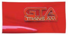 Pontiac Firebird Gta Trans Am Beach Sheet