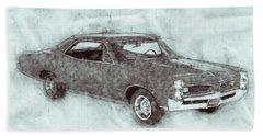 Pontiac Gto 1 - 1967 - Automotive Art - Car Posters Beach Towel