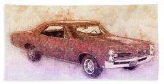 Pontiac Gto 3 - 1967 - Automotive Art - Car Posters Beach Towel