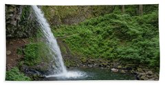 Beach Sheet featuring the photograph Ponytail Falls by Greg Nyquist