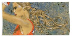 Ponytail Run Beach Towel