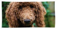 Poodle Pup Beach Towel