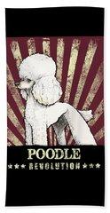 Poodle Revolution Beach Towel