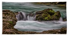 Beach Towel featuring the photograph Pool In The River by Stuart Litoff