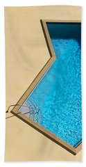 Beach Towel featuring the photograph Pool Modern by Laura Fasulo