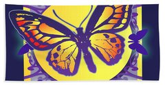 Pop Art Butterfly Beach Towel