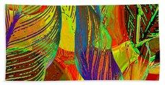 Beach Towel featuring the digital art Pop Art Cannas by Deleas Kilgore