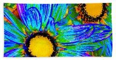 Pop Art Daisies 4 Beach Towel