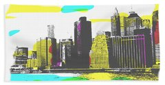 Pop City Skyline Beach Towel