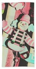Pop Up Clown Art Beach Towel