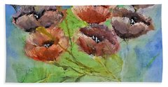 Pop Wild Floral Painting By Lisa Kaiser Beach Towel