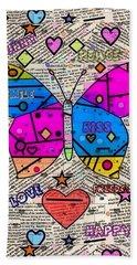 Popart New Paper By Nico Bielow Beach Sheet by Nico Bielow
