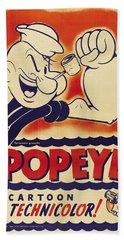 Popeye Technicolor Beach Towel