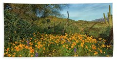 Poppies Abound Beach Towel by Tom Kelly