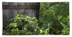 Poppies And Bluebells Beach Sheet