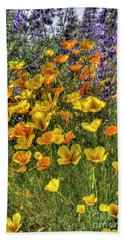 Beach Sheet featuring the photograph Poppies And Lupines by Jim and Emily Bush