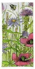 Poppies And Wildflowers Beach Sheet