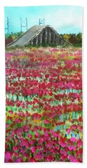 Poppies At Cedar Point Beach Towel