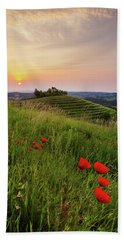 Beach Towel featuring the photograph Poppies Burns by Davor Zerjav