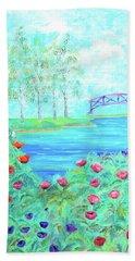 Poppies Beach Towel