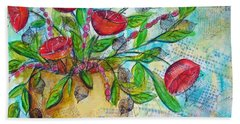 Poppies Beach Sheet by Karin Husty