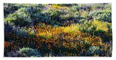Beach Towel featuring the photograph Poppies On A Hillside by Glenn McCarthy Art and Photography