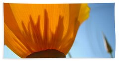 Poppies Sunlit Poppy Flower 1 Wildflower Art Prints Beach Towel