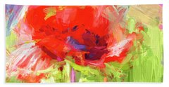 Beach Towel featuring the photograph Poppy Abstract Photo Art by Sharon Talson