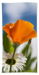 Poppy And Daisies Beach Towel