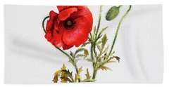 Poppy Beach Towel