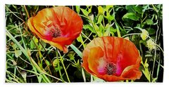 Poppy Beauties Beach Sheet