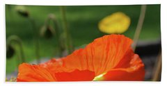 Poppy Cup Beach Towel