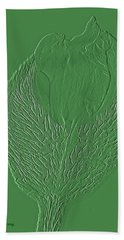 Poppy Embossing  Beach Towel