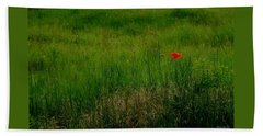 Beach Towel featuring the photograph Poppy In The Field by Marija Djedovic