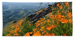 Beach Towel featuring the photograph Poppy Mountain  by Kyle Hanson