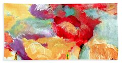 Poppy Orange Red And Plum Beach Sheet