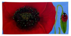 Poppy Power Beach Sheet