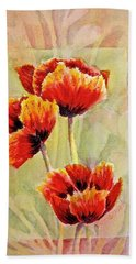 Poppy Trio Beach Towel