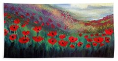 Poppy Wonderland Beach Sheet